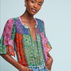 Akemi And Kin Antonella Peasant Top Anthropologie